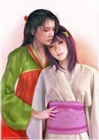 Akirako and Chinatsu by omupied