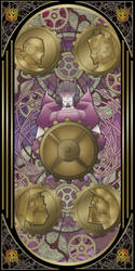Transformers Tarot cards: The Wheel of Fortune by Chibininja1917
