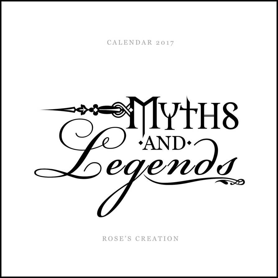 Myths and Legends - Calendar 2017 by dreamswoman