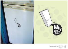 leaky fridge sticker by pixelprophet