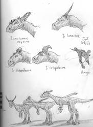 Plains Pachycephalosaurs by Lord-Triceratops