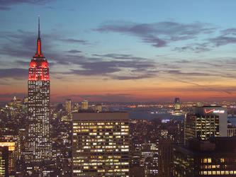 NYC sunset by Designdivala