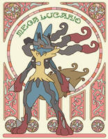 Mega-Lucario by lilyztyle