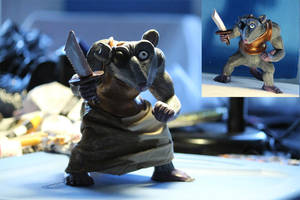 Possum Figurine pre and post skirt addition by spulunk