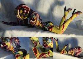 Kristen Leanne Zombie Pin-Up Sculpt by spulunk
