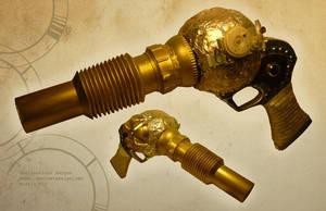 Steampunk Barrel Gun by spulunk