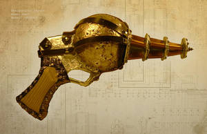 Steampunk Futuristic Raygun by spulunk