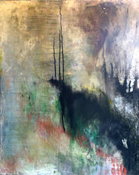2012 abstract landscape painting by snagletooth