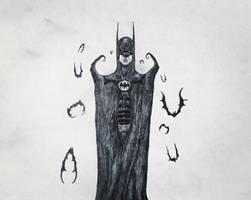 A Burtonesque Batman. by Kongzilla2010