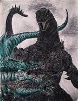 My version of Godzilla vs Zilla. by Kongzilla2010