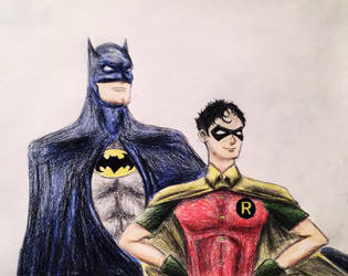 Classic Batman and Robin Sketch. by Kongzilla2010
