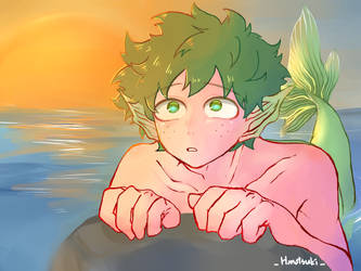 Midoriya become a mermaid// by chelsea60325