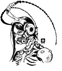 Inktober 2018-Cyborg Roach Girl by Novanim