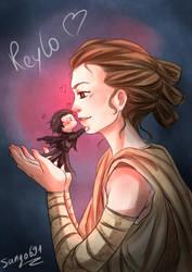 Reylo's kiss by sango691