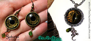 Hand painted  glass eyes jewels - on sale by HiloDePlata