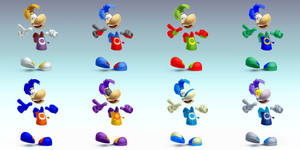 Smashified Rayman Alternate Colours by SkydraoftheGoddesses