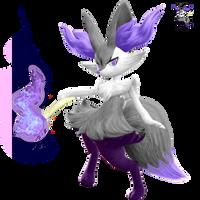 Shiny Redo: #654 Braixen by SkydraoftheGoddesses
