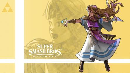 Super Smash Bros. Ultimate - Zelda by nin-mario64