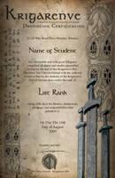 Krigarenve Certificate 1 by Vikingjack