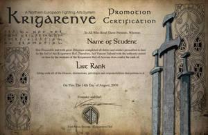 Krigarenve Certificate 2 by Vikingjack