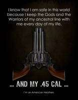 Thors Hammer old west Army 45 Poster by Vikingjack