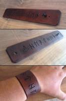 American Heathen Leather Bracer by Vikingjack