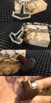 Steampunk Titanium and Ironwood Thors Hammer by Vikingjack