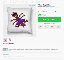 Pillow Bug Pillow Bug Pillow Bug pillow by hattonslayden