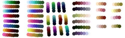 Sai made Palettes :U by SquirrellyWrathGrl
