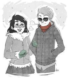 Wintery Birthdays by lexxercise