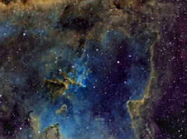 IC1805 Heart Nebula Center by dhubbell