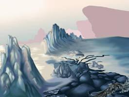 Snow scape study by kyrisnowpaw