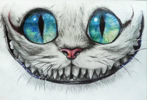 Cheshire Cat by kyrisnowpaw