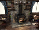 Farmstead Fireplace by JaredTheDragon