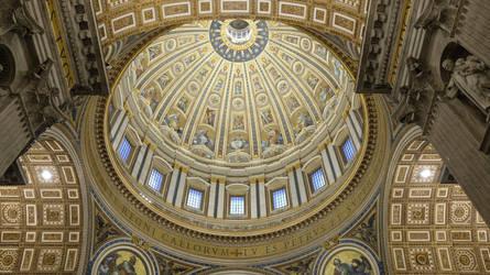 The ceiling of Saint Peter's Basilica. by xJobO-De-HobOx