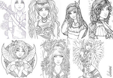 Line Art Collection by Sakuems