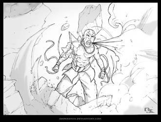 Avatar Aang sketch by DarkKenjie