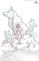 Princess Mononoke Lines by DarkKenjie