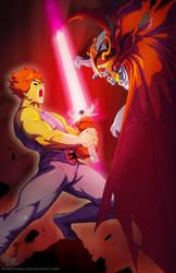 Thundercats-Lion-O VS Mumm-Ra by DarkKenjie