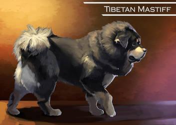 Tibetan Mastiff by DarkKenjie