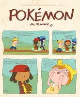Pokemon Awkward: Pikachu Backpack by DarkKenjie