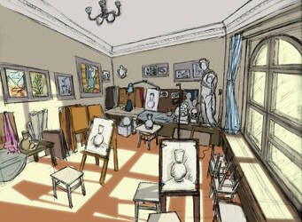 IN ART SCHOOL by Oldquaker