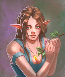 Elf Lady I guess by JaqenArt