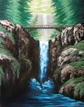 Multnomah Falls larger version by Kchan27