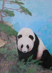 Panda Pointillism by Kchan27