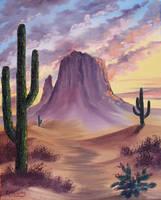 Desert Sunset by Kchan27