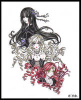 Mis Personajes de Vampiros by evs-eme