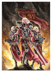 The Sisters of Battle - Warhammer 40k by evs-eme