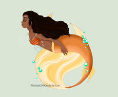 Moana mermaid by pitchblack1994
