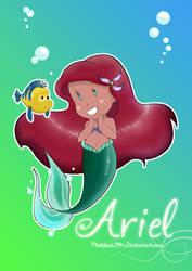 Ariel chibi by pitchblack1994